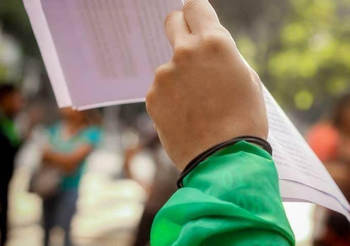 Lectura del comunicado en el Día por la Despenalización del Aborto en América Latina y el Caribe